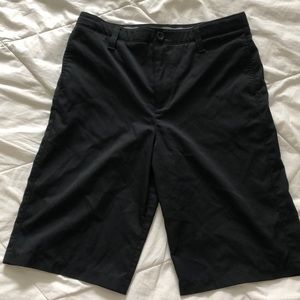 Boys Black Under Armour Golf Shorts
